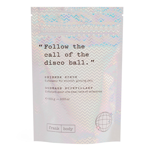 Shimmer Scrub - Gommage Corps Glow Format Voyage, FRANK BODY