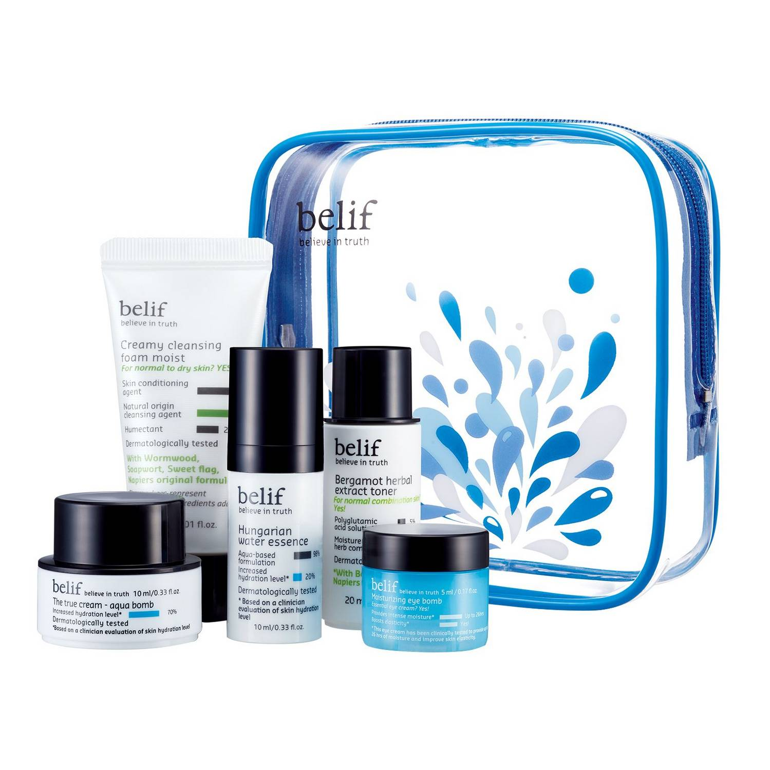 BELIF'S BESTSELLERS BEAUTY TO GO TRAVEL KIT
